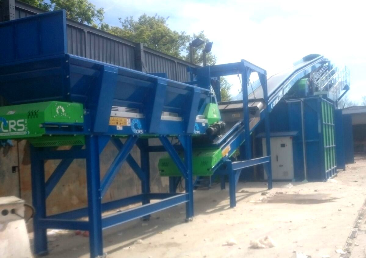 CRS Fines Recovery System with Hopper, Conveyor Magnet & Flip Flow Screen GBN