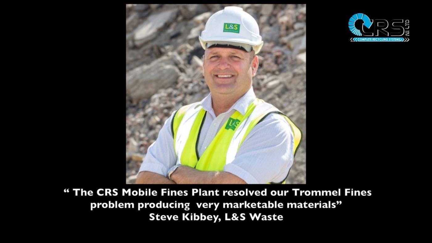 Mobile Fines Plant